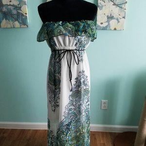 Women's size lg strapless summer dress